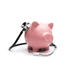 Piggybank and Stethoscope - Stock Photo or Stock Video of rcfotostock | RC-Photo-Stock