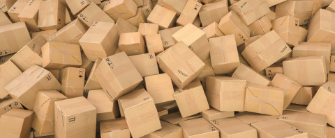 Pile of brown cardboard boxes background header, logistics and delivery concept image : Stock Photo or Stock Video Download rcfotostock photos, images and assets rcfotostock | RC-Photo-Stock.: