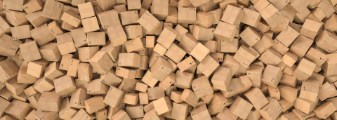 Pile of cardboard boxes background header, logistics and delivery concept image- Stock Photo or Stock Video of rcfotostock | RC-Photo-Stock