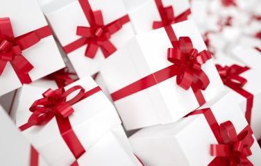pile of Christmas gifts with red bow : Stock Photo or Stock Video Download rcfotostock photos, images and assets rcfotostock | RC-Photo-Stock.:
