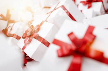 pile of christmas red gift box - Stock Photo or Stock Video of rcfotostock | RC-Photo-Stock
