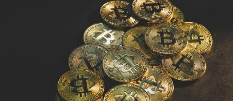 Pile of golden Bitcoin Cryptocurrency Digital Bit Coin BTC Currency Technology Business Internet Concept- Stock Photo or Stock Video of rcfotostock | RC-Photo-Stock