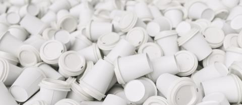pile of white empty trash to go coffee cups- Stock Photo or Stock Video of rcfotostock | RC-Photo-Stock