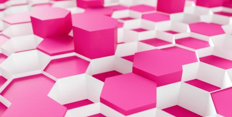 pink beauty Hexagon Background - 3D rendering - Illustration - Stock Photo or Stock Video of rcfotostock | RC-Photo-Stock