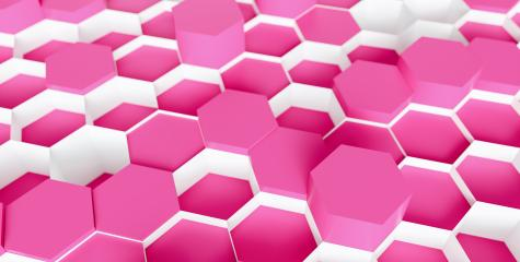 pink cosmetic beauty Hexagon Background - 3D rendering - Illustration - Stock Photo or Stock Video of rcfotostock | RC-Photo-Stock