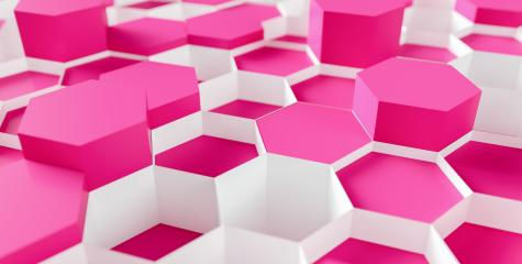 pink cosmetic Hexagon Background - 3D rendering - Illustration - Stock Photo or Stock Video of rcfotostock | RC-Photo-Stock