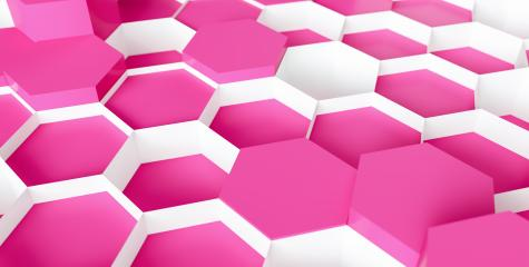 pink Hexagon Background - 3D rendering - Illustration - Stock Photo or Stock Video of rcfotostock | RC-Photo-Stock