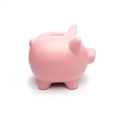 Pink Piggy Bank isolated on white- Stock Photo or Stock Video of rcfotostock | RC-Photo-Stock
