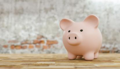 pink Piggy bank old with brick wall, copyspace for your individual text.- Stock Photo or Stock Video of rcfotostock | RC-Photo-Stock