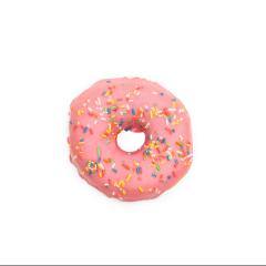 pink sugar coated doughnut with colorful sprinkles, isolated on white background- Stock Photo or Stock Video of rcfotostock | RC-Photo-Stock