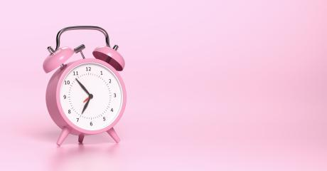 Pink vintage alarm clock with bright Pink background. Minimal creative concept, with copyspace for your individual text. : Stock Photo or Stock Video Download rcfotostock photos, images and assets rcfotostock | RC-Photo-Stock.: