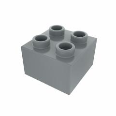 Plastic building block in gray color isolated on white background- Stock Photo or Stock Video of rcfotostock | RC-Photo-Stock