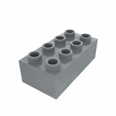 Plastic building block in gray color isolated on white background : Stock Photo or Stock Video Download rcfotostock photos, images and assets rcfotostock | RC-Photo-Stock.:
