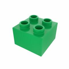 Plastic building block in green color isolated on white background- Stock Photo or Stock Video of rcfotostock | RC-Photo-Stock