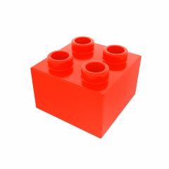 Plastic building block in red color isolated on white background- Stock Photo or Stock Video of rcfotostock | RC-Photo-Stock