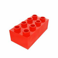 Plastic building block in red color isolated on white background : Stock Photo or Stock Video Download rcfotostock photos, images and assets rcfotostock | RC-Photo-Stock.: