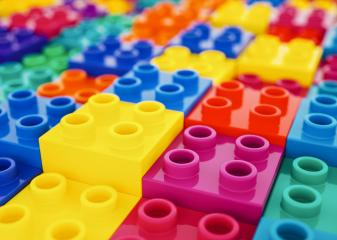 plastic construction blocks background- Stock Photo or Stock Video of rcfotostock | RC-Photo-Stock