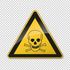 Poison warn sign with skull and crossbones. Safety signs, warning Sign or Danger symbol BGV hazard pictogram, Deadly danger sign. skull and crossbones for toxic on transparent background. Vector EPS10- Stock Photo or Stock Video of rcfotostock | RC-Photo-Stock