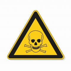 Poison warn sign with skull and crossbones. Safety signs, warning Sign or Danger symbol BGV hazard pictogram, Deadly danger sign. skull and crossbones for toxic on white background. Vector EPS 10.- Stock Photo or Stock Video of rcfotostock | RC-Photo-Stock