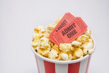 popcorn in a box with cinema tickets : Stock Photo or Stock Video Download rcfotostock photos, images and assets rcfotostock | RC-Photo-Stock.: