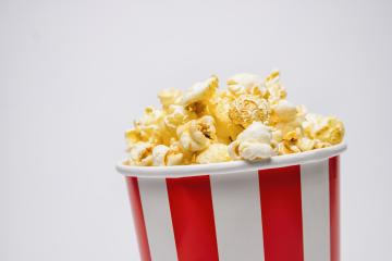 popcorn in a box with copy space- Stock Photo or Stock Video of rcfotostock | RC-Photo-Stock
