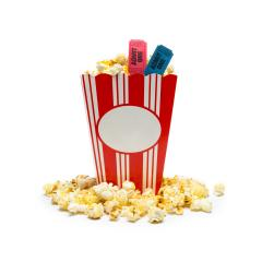 popcorn in a box with tickets isolated on white, cinema, movies and entertainment concept- Stock Photo or Stock Video of rcfotostock | RC-Photo-Stock