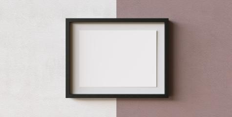 Portfolio frame mock-up template for presentation on a wall, copyspace for your individual text.- Stock Photo or Stock Video of rcfotostock | RC-Photo-Stock