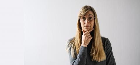 portrait of a mature woman with glasses looks Thoughtful, with copyspace for your individual text. : Stock Photo or Stock Video Download rcfotostock photos, images and assets rcfotostock | RC-Photo-Stock.: