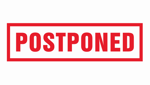 Postponed grunge rubber stamp on white background. Vector illust- Stock Photo or Stock Video of rcfotostock | RC-Photo-Stock