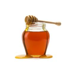 Pot of honey with wooden drizzler- Stock Photo or Stock Video of rcfotostock | RC-Photo-Stock