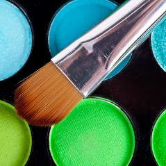 powder brush  multicolour background- Stock Photo or Stock Video of rcfotostock   RC-Photo-Stock