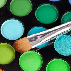powder brush  multicolour background : Stock Photo or Stock Video Download rcfotostock photos, images and assets rcfotostock | RC-Photo-Stock.: