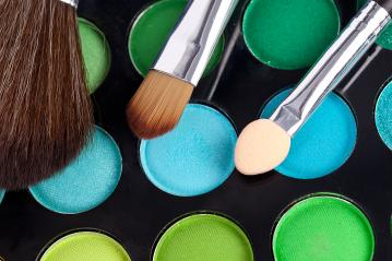 powder brushes  multicolour background- Stock Photo or Stock Video of rcfotostock | RC-Photo-Stock