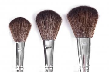 powder brushes  white background- Stock Photo or Stock Video of rcfotostock | RC-Photo-Stock