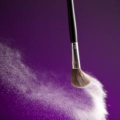 powderbrush on purple background- Stock Photo or Stock Video of rcfotostock | RC-Photo-Stock