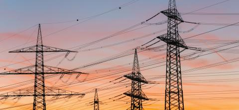 power transmission tower silhouetted against the sunset : Stock Photo or Stock Video Download rcfotostock photos, images and assets rcfotostock | RC-Photo-Stock.: