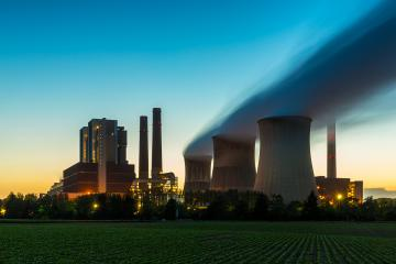 powerplant at sunset- Stock Photo or Stock Video of rcfotostock | RC-Photo-Stock