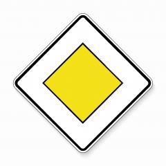 Priority road Traffic sign. German road sign: respect the right of way. Yield! on main road on white background. Vector illustration. Eps 10 vector file. : Stock Photo or Stock Video Download rcfotostock photos, images and assets rcfotostock | RC-Photo-Stock.:
