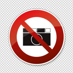 Prohibition signs BGV icon pictogram No photo photographing prohibited paparazzi on checked transparent background. Vector illustration. Eps 10 vector file. : Stock Photo or Stock Video Download rcfotostock photos, images and assets rcfotostock | RC-Photo-Stock.: