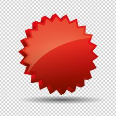 Promo sale badge or starburst sticker 3d icon, logo isolated design on checked transparent background, copy space for individual text. Vector illustration. Eps 10 vector file. : Stock Photo or Stock Video Download rcfotostock photos, images and assets rcfotostock | RC-Photo-Stock.: