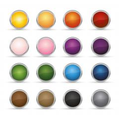 Promo sale round badges set in different colors or sticker icon, for logo  design on white background, copy space for individual text. Vector illustration. Eps 10 vector file.- Stock Photo or Stock Video of rcfotostock | RC-Photo-Stock