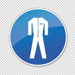 Protective safety clothing must be worn. Safety overalls must be worn , mandatory sign or safety sign, on checked transparent background. Vector Eps 10. : Stock Photo or Stock Video Download rcfotostock photos, images and assets rcfotostock | RC-Photo-Stock.: