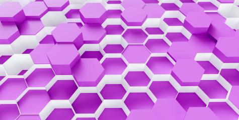 purple Hexagon Background - 3D rendering - Illustration - Stock Photo or Stock Video of rcfotostock | RC-Photo-Stock