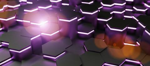purple neon uv abstract hexagons background pattern 3D rendering - Illustration - Stock Photo or Stock Video of rcfotostock | RC-Photo-Stock
