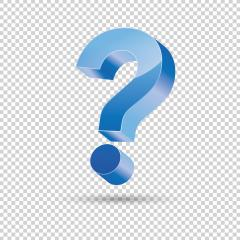 Question mark with blue color, 3D design on checked transparent background. Vector illustration. Eps 10 vector file.- Stock Photo or Stock Video of rcfotostock | RC-Photo-Stock