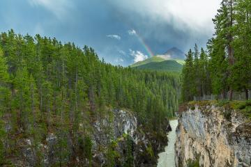 Rainbow at the Sunwapta canyon in the jasper national park canada : Stock Photo or Stock Video Download rcfotostock photos, images and assets rcfotostock | RC-Photo-Stock.: