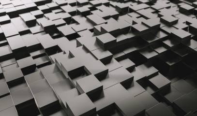 Realistic black solid cubes with a shadow of the same size, located in space at different levels. Abstract background of 3d cubes - 3D rendering - Illustration : Stock Photo or Stock Video Download rcfotostock photos, images and assets rcfotostock | RC-Photo-Stock.: