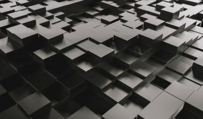 Realistic black solid cubes with a shadow of the same size, located in space at different levels. Abstract background of 3d cubes - 3D rendering - Illustration- Stock Photo or Stock Video of rcfotostock | RC-Photo-Stock