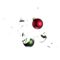 red and green christmas balls impact- Stock Photo or Stock Video of rcfotostock | RC-Photo-Stock