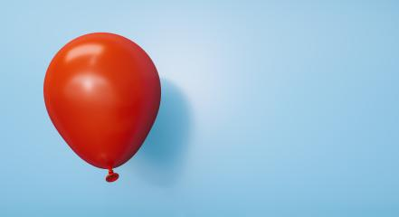 red Balloon against a blue wall - 3D Rendering : Stock Photo or Stock Video Download rcfotostock photos, images and assets rcfotostock | RC-Photo-Stock.:
